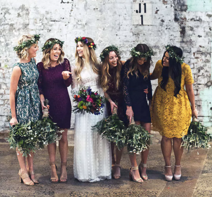 af7e4201f4 Can bridesmaids dresses be different or do they have to be the same ...